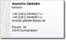 Visitenkarte Annette Giebeler